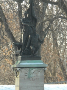 The Civil War monument, which is located in present day Lawton Park.