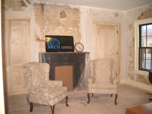 Fireplace before moving