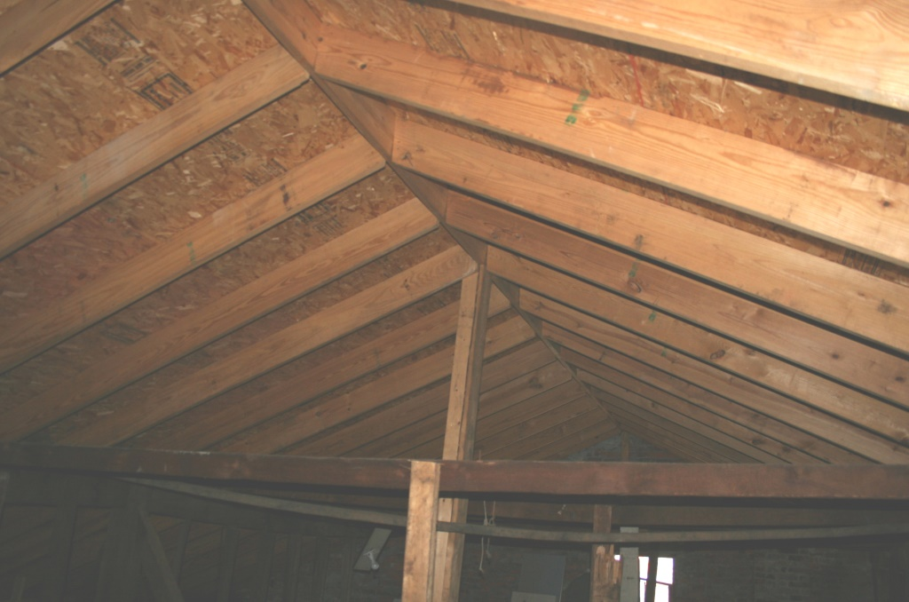 Huxford House roof timbers